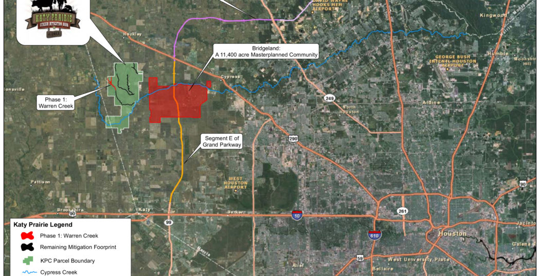 Texas flood and the Katy Prairie Stream Mitigation Bank