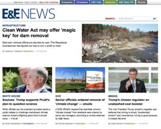 E&E News on Milburnie and Dam Removal for Mitigation